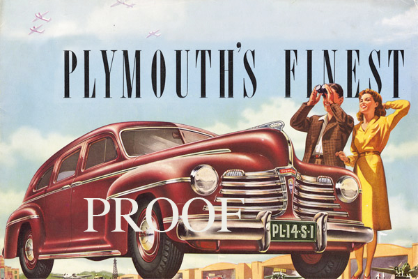 1942 Plymouth Brochure Cover