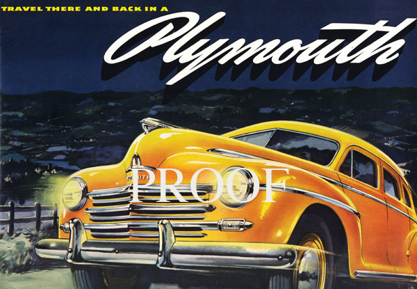 1946 Plymouth Cover
